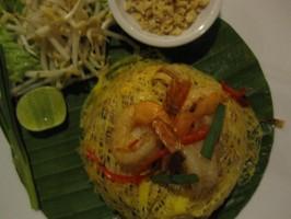 Thai-Nudeln mit Shrimps